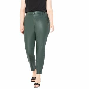 Eloquii Slim Faux Leather Pants in Pine Grove.